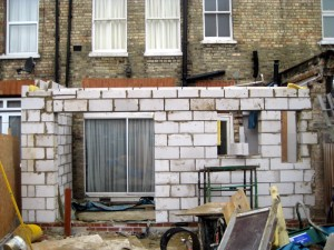 House extension and construction works in London