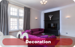 Interior design and decoratation contractor in London