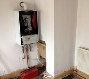 Plumbing and heating installation works